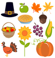 Thanksgiving set vector | Price: 1 Credit (USD $1)