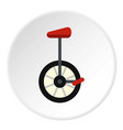 unicycle icon circle vector image vector image
