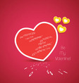 Valentine greetings with heart vector image vector image