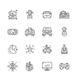 video game controller or gamepad line art icon for vector image