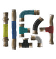 water pipes rolled repair type realistic vector image
