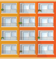 window of colorful apartment building vector image vector image