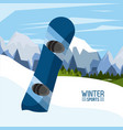 winter extreme sports vector image vector image