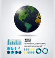 world map infographic vector image vector image