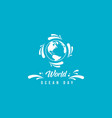 world ocean day background simple style vector image