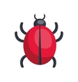 bug icon design over white background vector image