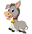 funny donkey cartoon sitting vector image