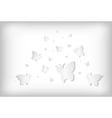 abstract paper butterflies