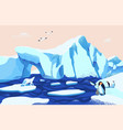 beautiful arctic or antarctic landscape gorgeous vector image vector image