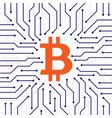 bitcoin blockchain background vector image vector image