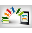 Books flying in an e-book vector | Price: 3 Credits (USD $3)