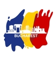 Bucharest City Skyline vector image vector image