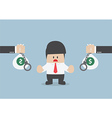 Businessman do not accept loan offer vector image vector image