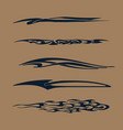 car motorcycle racing vehicle graphics tribal vector image