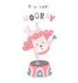 cartoon cat circus artist childish print for kids vector image