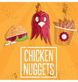 chicken time fast food vector image