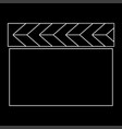 cinema clapper the white path icon vector image