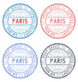 colored postmarks paris express delivery round vector image vector image