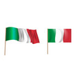 colorful naturalistic waving flag italy vector image