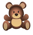 cute cartoon teddy bear vector image vector image