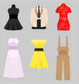 dress female pack free vector image vector image
