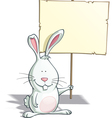 Easter Bunny Placard vector image
