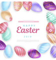 easter eggs around cute inscription vector image vector image