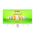 easter sale get up to 50 percent discount vector image vector image