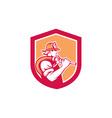Fireman Firefighter Holding Fire Hose Shoulder vector image vector image