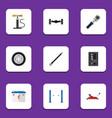 flat icon auto set of auto jack automatic vector image vector image
