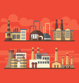 flat industrial factory landsapes on bright vector image vector image