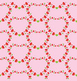 flower pattern heart shaped on pink background vector image vector image