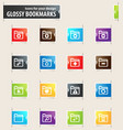 folders bookmark icons vector image vector image