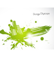 Green abstract brush art vector image vector image