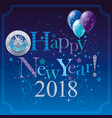 happy new year 2018 logo icon poster with vector image vector image