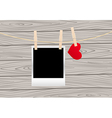 hearts clothespins 06 vector image vector image