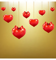 Hearts With Red Bows vector image
