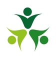 human figure silhouette green icon vector image vector image