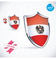 I Love Austria Flag vector image vector image