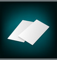 identity design blank white folding paper flayer vector image vector image