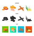 isolated object of taste and seasonin sign set of vector image vector image