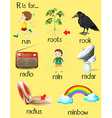 many words begin with alphabet r