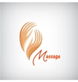 massage logo 2 hands silhouette icon vector image vector image