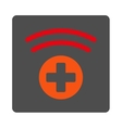 Medical Source Flat Button vector image