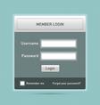 member login vector image vector image