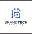 molecul logo technology logo simple tech design vector image vector image