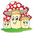 mushroom theme image 1 vector image