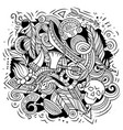 native american cartoon doodle design vector image