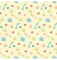 pattern with cats paw prints vector image