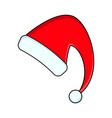 santa hat for christmas design isolated on white vector image
